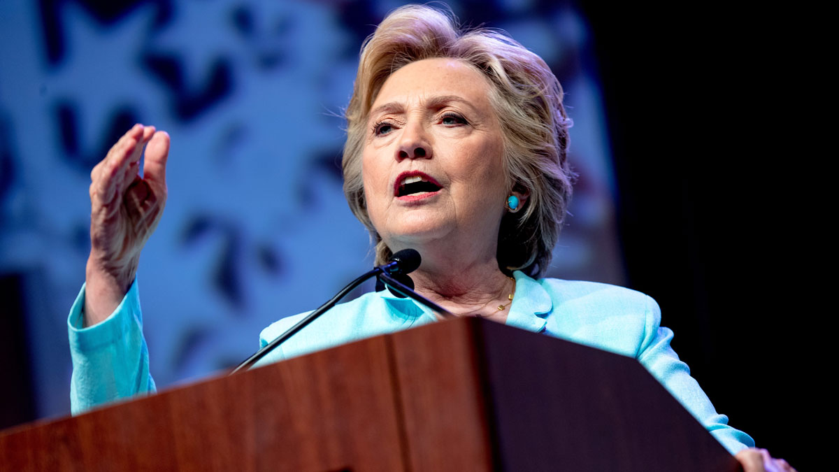 Democratic presidential candidate Hillary Clinton speaks at the 2016 National Association of Black Journalists' and National Association of Hispanic Journalists' Hall of Fame Luncheon at Marriott Wardman Park in Washington on Aug. 5, 2016.