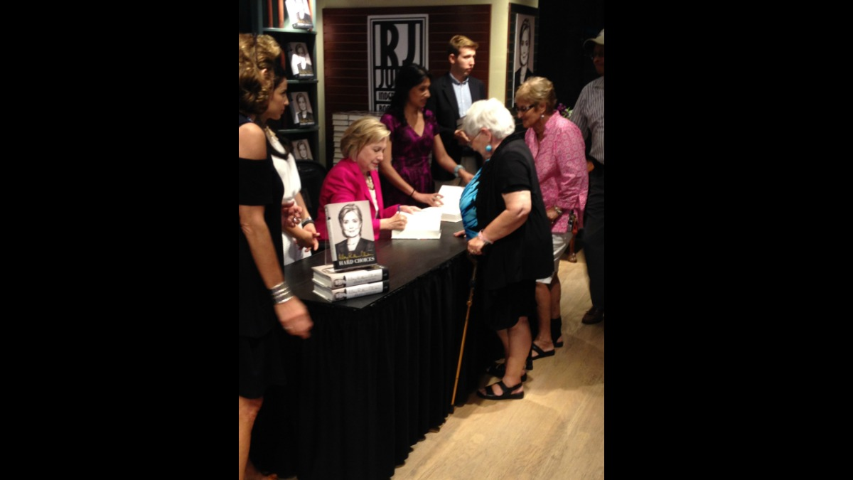 Hillary Rodham Clinton paid a visit to Connecticut Saturday, July 19 at a book signing for her new memoir