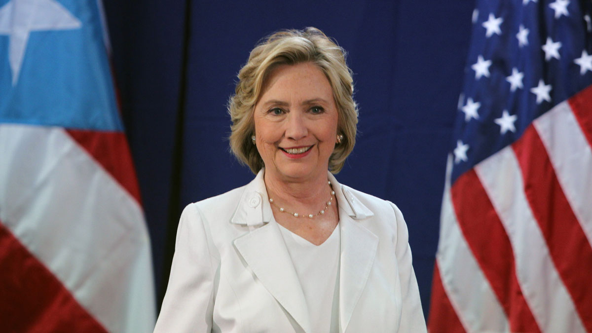 Democratic presidential candidate Hillary Rodham Clinton listens to a question during a news conference after a roundtable to discuss the health care crisis in San Juan, Puerto Rico, on Sept. 4, 2015. Puerto Ricans will cast their ballots in the island territory's Democratic primary on June 5, 2016.