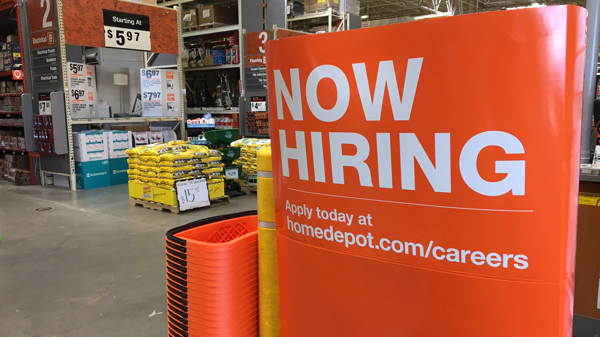 Home Depot said it plans to hire 900 seasonal employees in the Hartford and New Haven areas.
