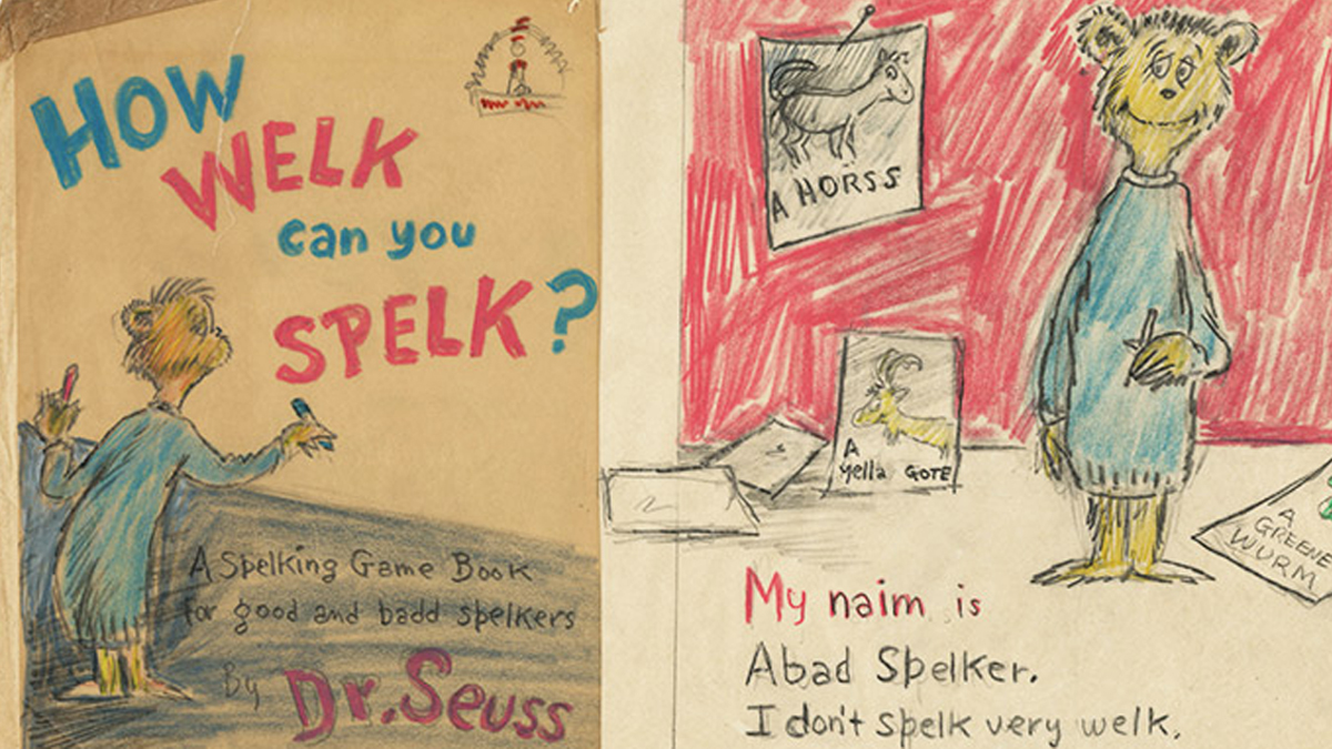 One of the new Dr. Seuss valuables donated to UC San Diego's Geisel Library.
