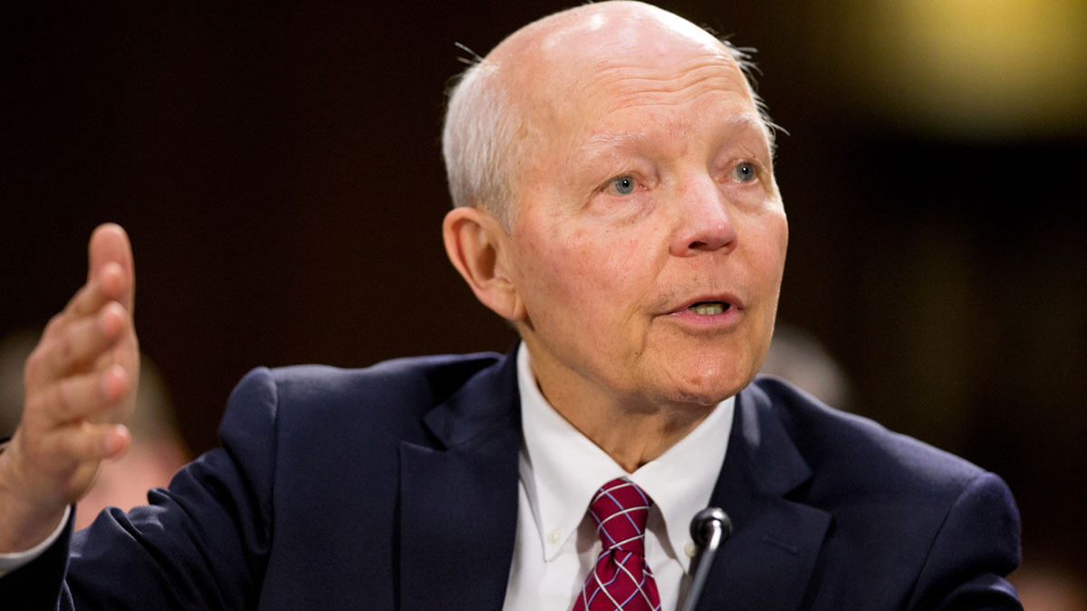 In this file image Internal Revenue Service (IRS) Commissioner John Koskinen testifies on Capitol Hill in Washington, Wednesday,July 29, 2015. On Tuesday, October 27,  2016 Republicans filed papers to begin impeachment proceedings over alleged IRS targeting to Tea Party affiliated groups.