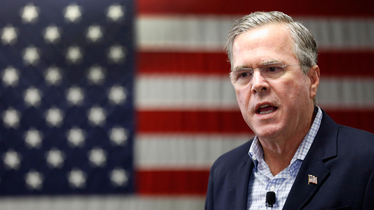 Republican presidential candidate Jeb Bush speaks during a campaign stop Friday, Nov. 13, 2015.