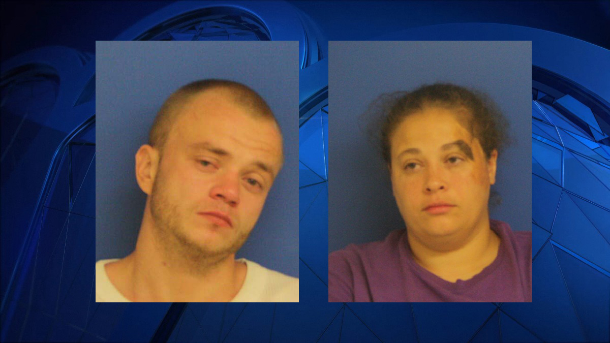 Jonathan Perdue, 27, of East Haven (left) and Tanya La Kierce, 36, of Wallingford, were each arrested on multiple charges