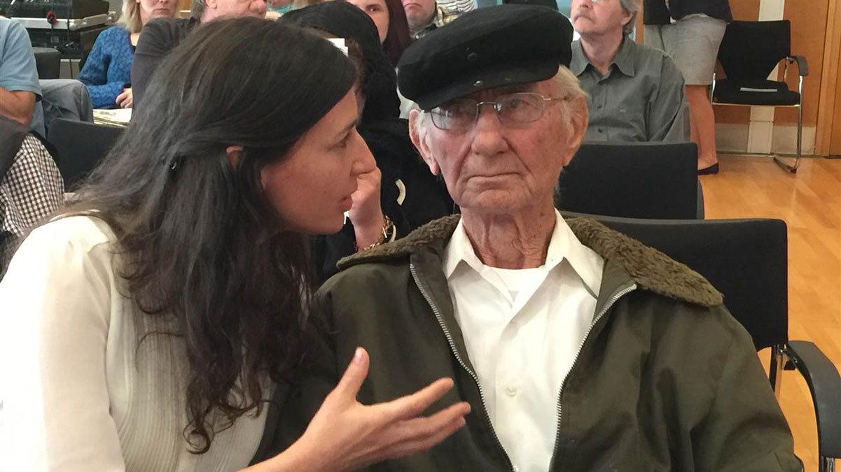 Reinhold Hanning, 94, is on trial accused of being accessory to the murder of at least 170,000 people/