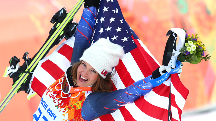 Skier Julia Mancuso of the United States won bronze in the women's super combined Monday in Sochi, the third straight Olympics in which she landed on the podium.