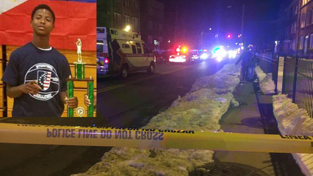 Police arrested a suspect in the St. Patrick's Day shooting death of Keon Huff, Jr. (inset)