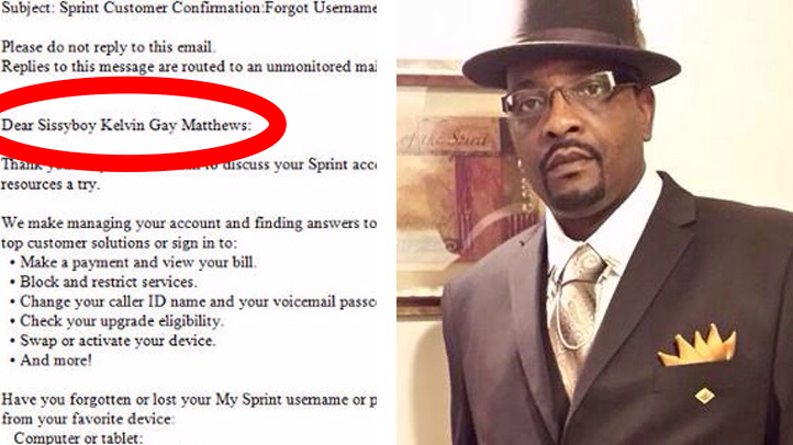 Kelvin Matthews and a copy of the offensive email he was sent.