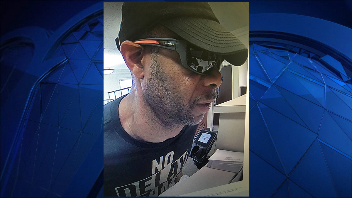 Police say the suspect pictured above demanded money from a teller at the Key Bank on Main Street in East Haven.