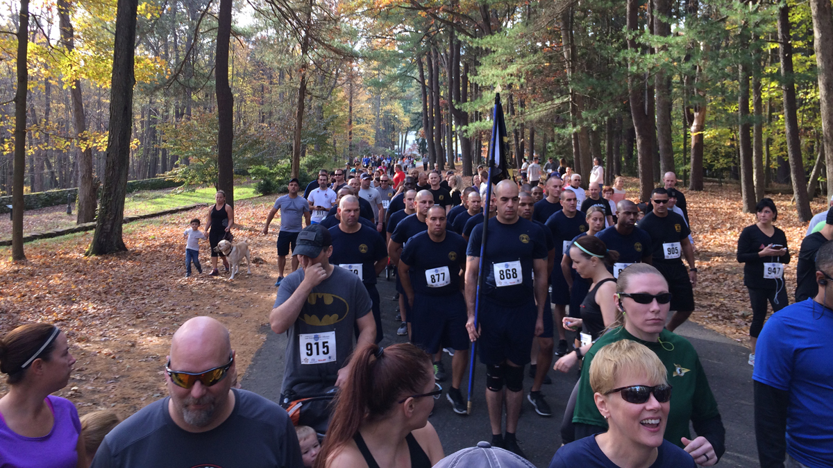 Over 500 runners participated in the seventh annual Connecticut Law Enforcement Officers Memorial Run in Middletown on Sunday, Oct. 30