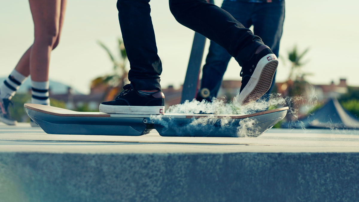 A Slide hoverboard prototype, in an undated press photograph.