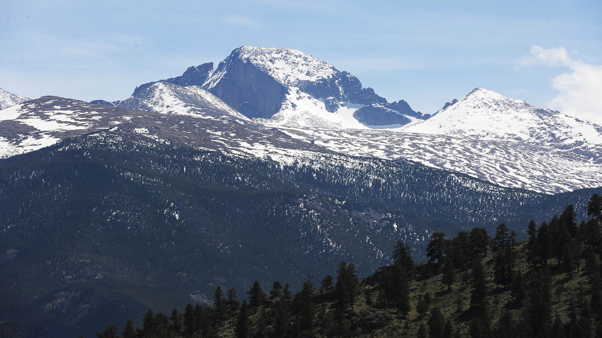 Long's Peak as seen from the Beaver Meadows Visitor Center Friday, June 3, 2016. Ten military personnel were rescued after having trouble completing a training exercise on the peak.