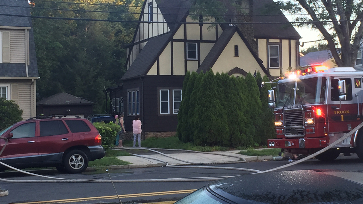 Four people were displaced by an early morning fire on Bradley Avenue in Meriden Wednesday.