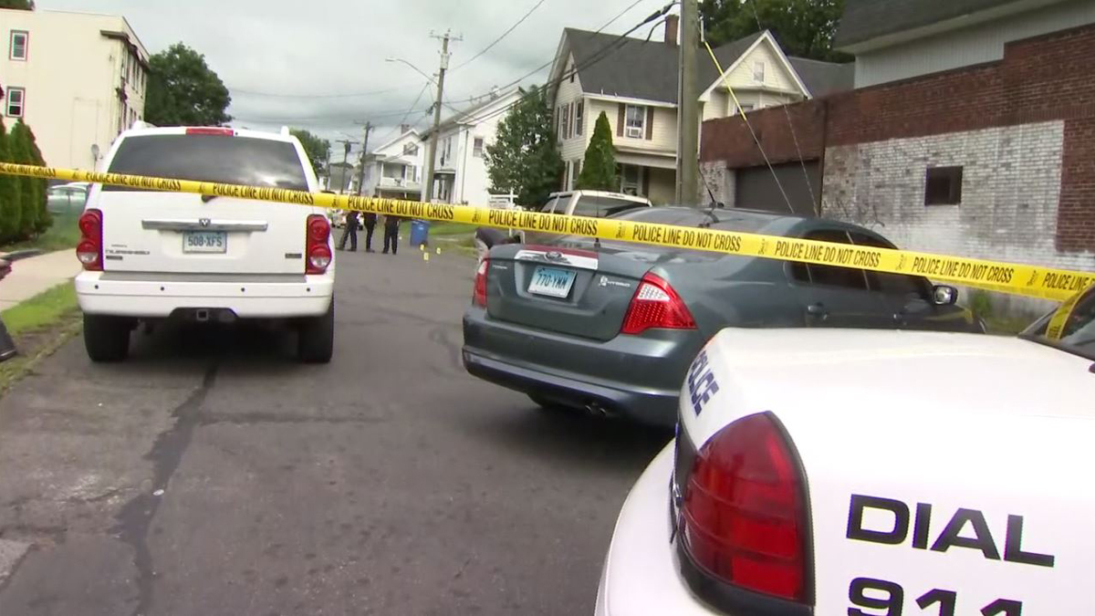 Meriden police are investigating after a car was found with damage from gunfire on Sherman Avenue Tuesday.
