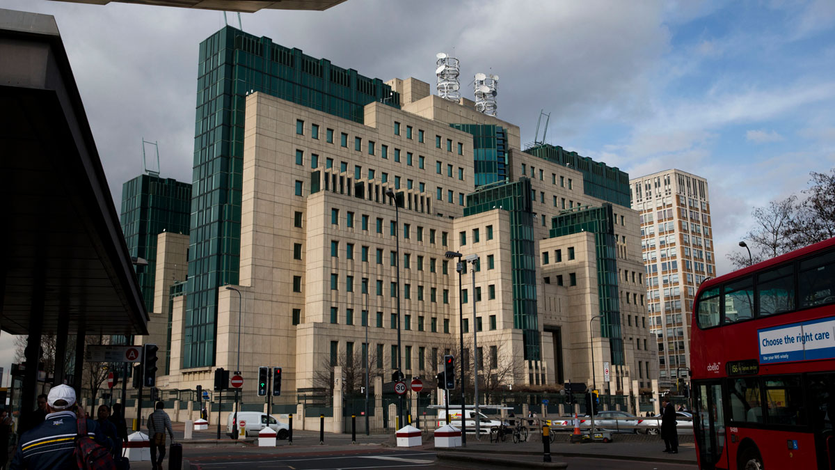 File Photo — A general view shows the MI6 building in London, Thursday, March 5, 2015.