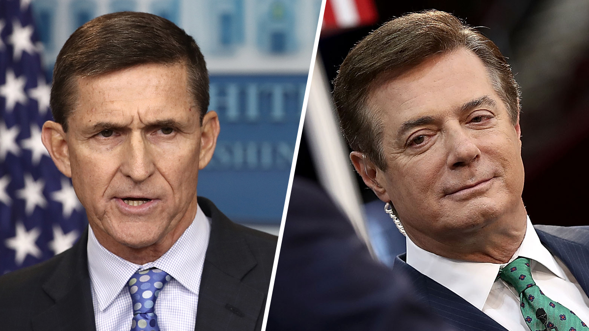 Former National Security Advisor Michael Flynn (left) and former Trump aide Paul Manafort.
