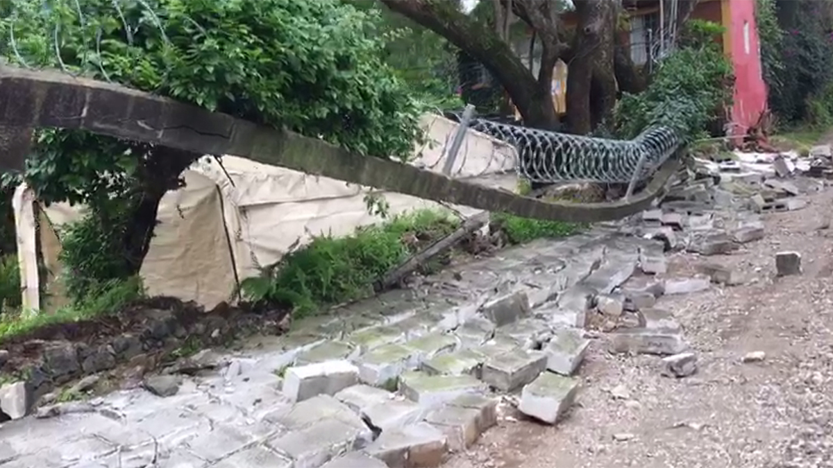 The damage from the earthquake in Tepoztlan, in the Mexican state of Morelos, south of Mexico City, on Sept. 19, 2017.