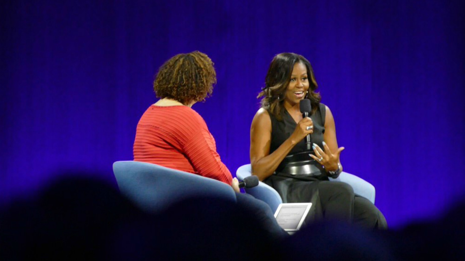 Michelle Obama speaks at Apple's Worldwide Developers Conference. (June 6, 2017)