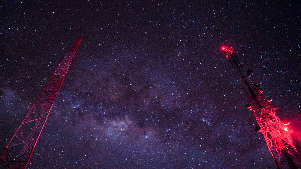 The grandeur and beauty of Milky way seen on April 04, 2015 in North Sulawesi, Indonesia.