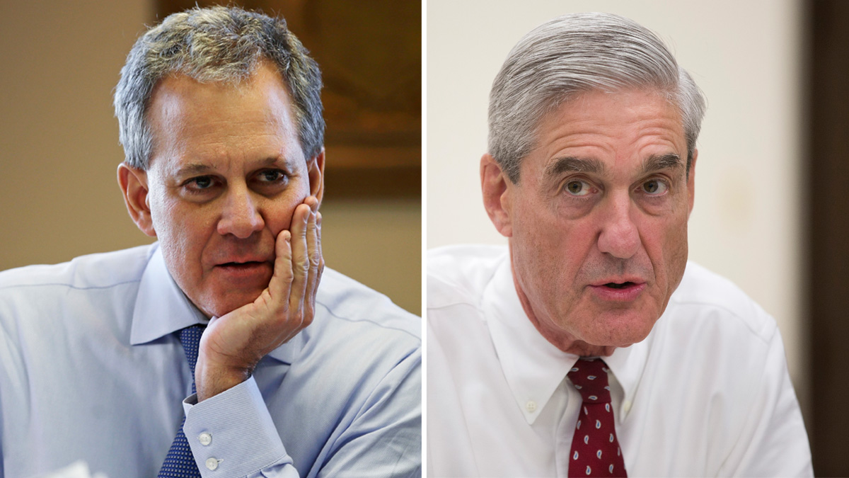 Special Counsel Robert Mueller and New York Attorney General Eric Schneiderman.