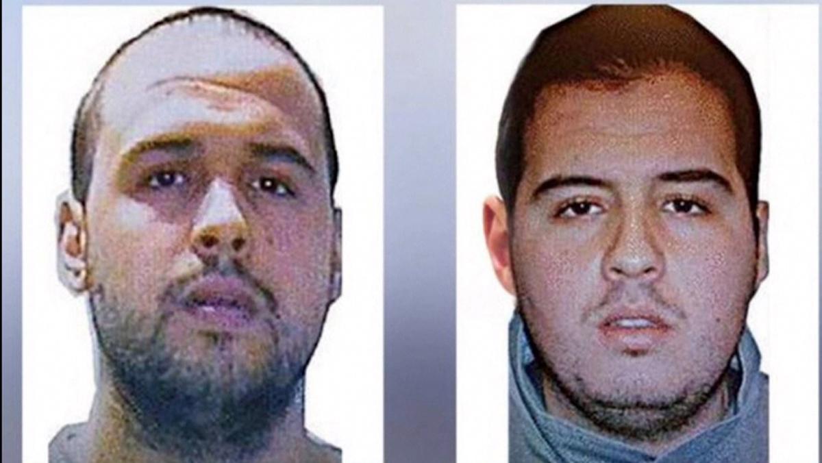 Interpol released an image of brothers Khalid el Bakraoui, left, and Ibrahim el Bakraoui.
