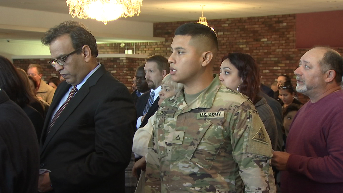 More than 50 people from nearly 30 different countries were sworn in as U.S. citizens Friday.