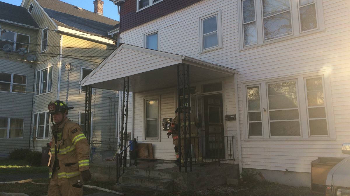 Fire broke out in the third floor of 17 Carlson Street in New Britain Saturday morning.