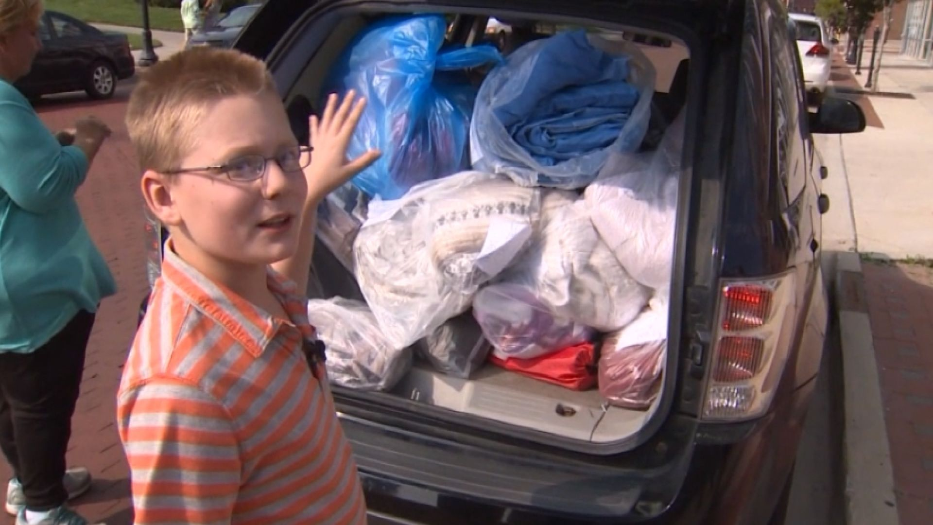 Young boy with a heart of gold is doing his part to keep the homeless warm in Grand Rapids, Michigan.