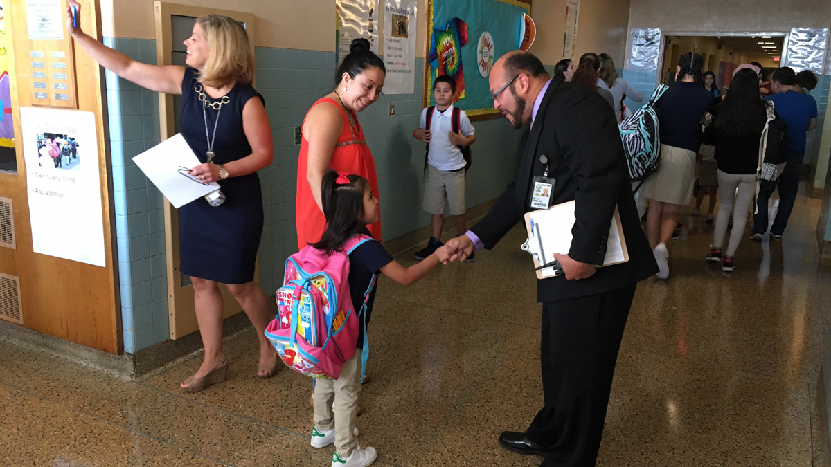 The Consolidated School District of New Britain is one of several districts welcoming students back to school Monday.