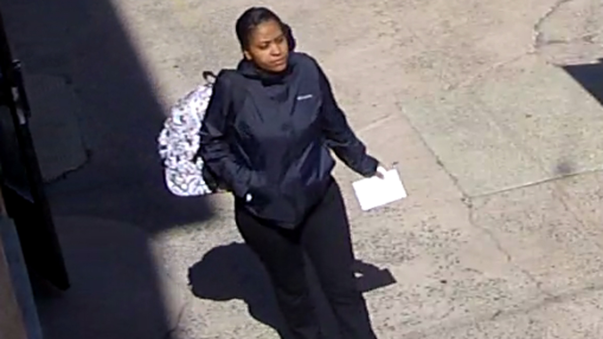 New Haven police are looking to identify the woman pictured above after two encounters with staff at the Cold Spring School on Chapel Street.