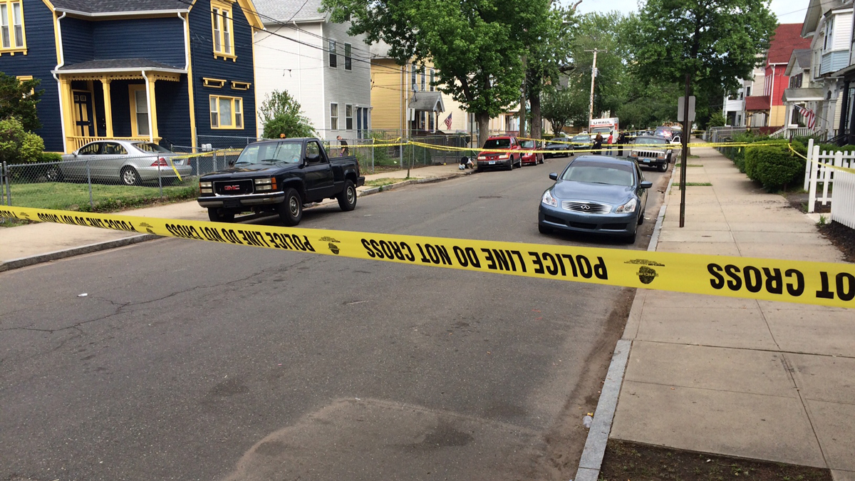 A 27-year-old man was killed and a second man seriously injured in a double shooting on Dickerman Street in New Haven Saturday.