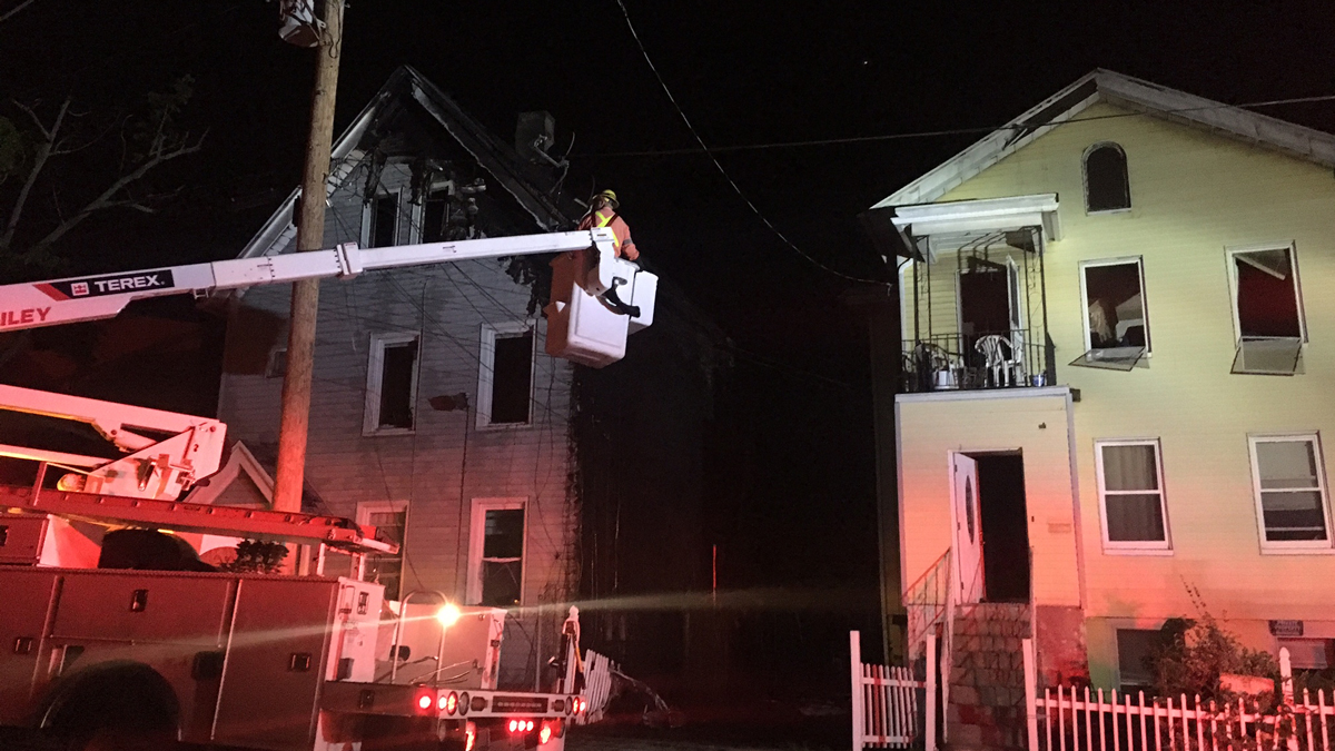Fireworks are to blame for a fire that caused serious damage to 17 Walnut Street in New Haven Wednesday.