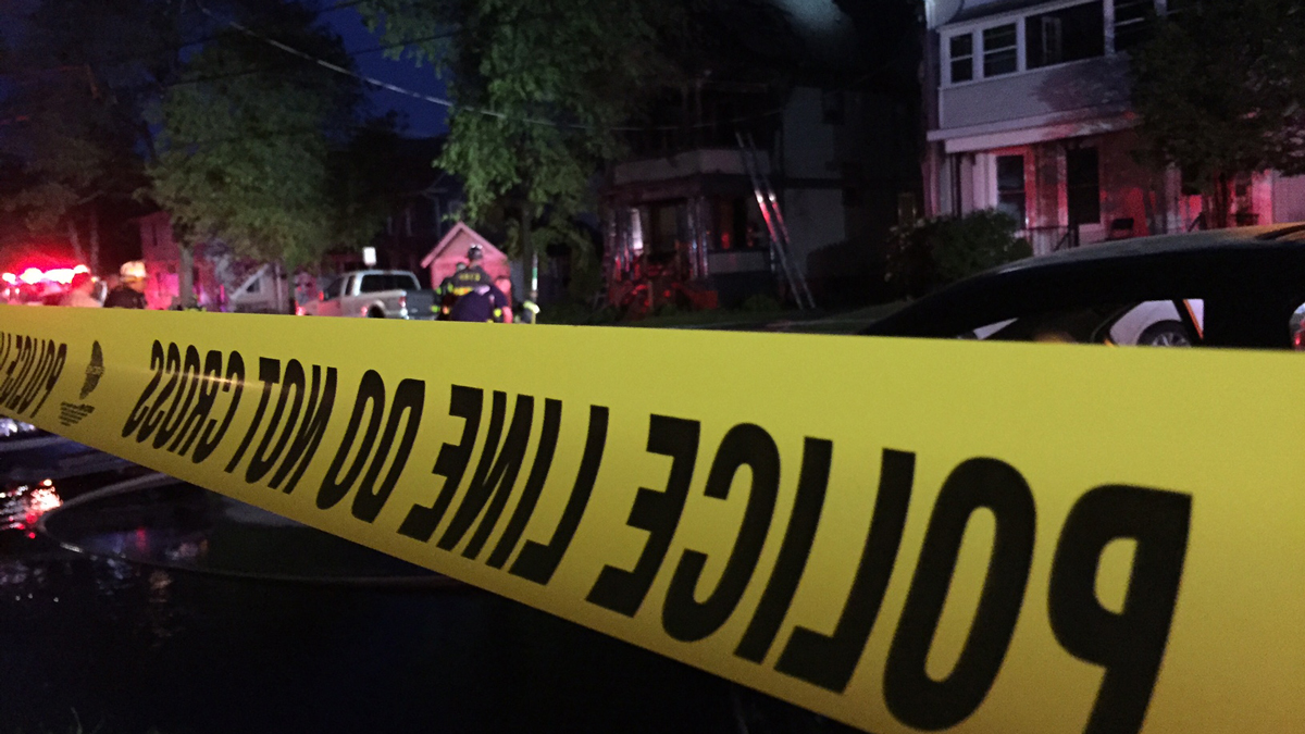 Fire broke out at a two-family home on Maple Street in New Haven Friday.