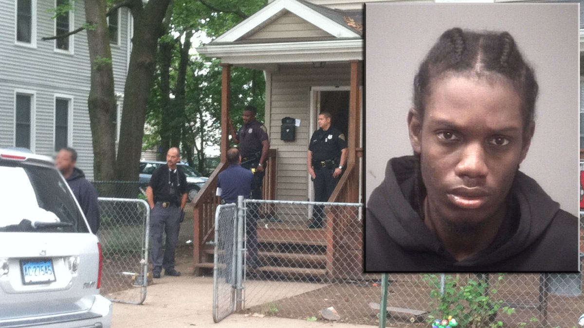 New Haven police arrested 21-year-old Charles Worthington (inset), at his home on Lilac Street in connection with the shooting of a 13-year-old boy over the weekend.