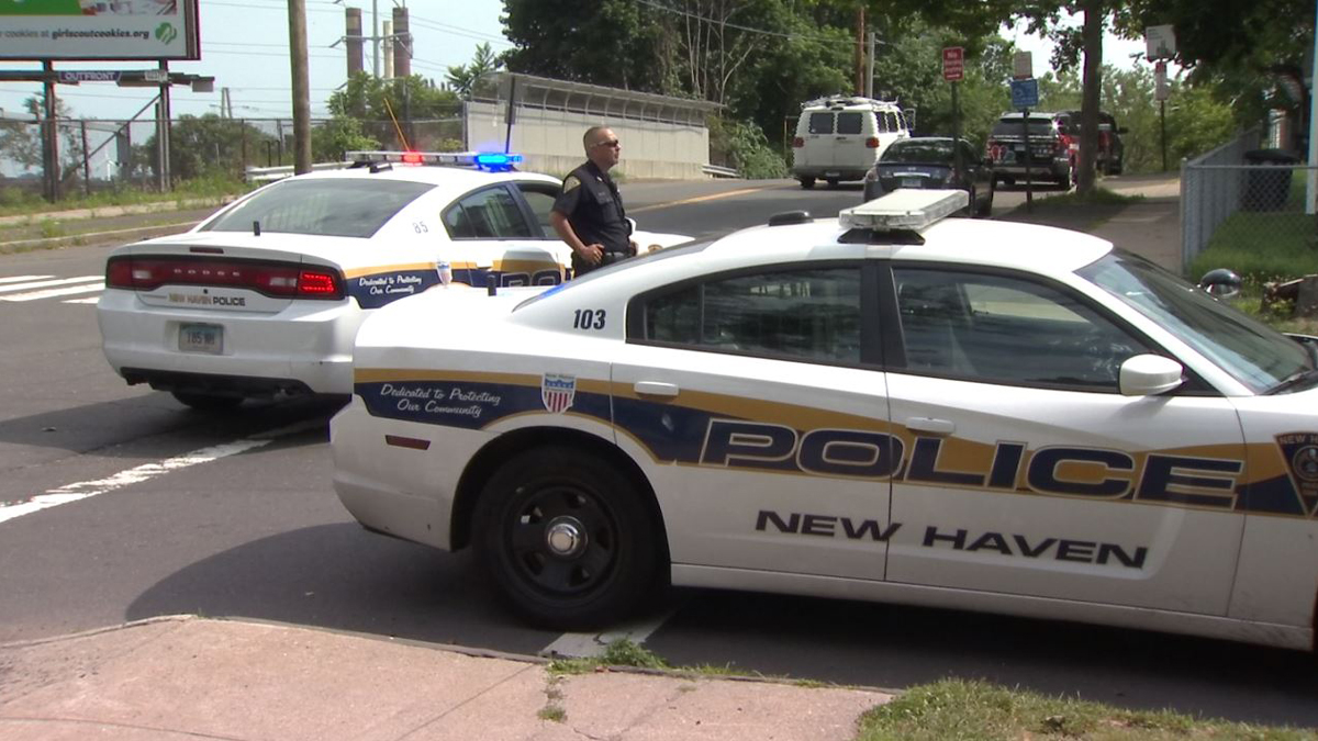 A man was shot in the face during a shootout in New Haven Sunday. The gunfire broke out on Walnut Street and the victim was found a few blocks away on East Street.