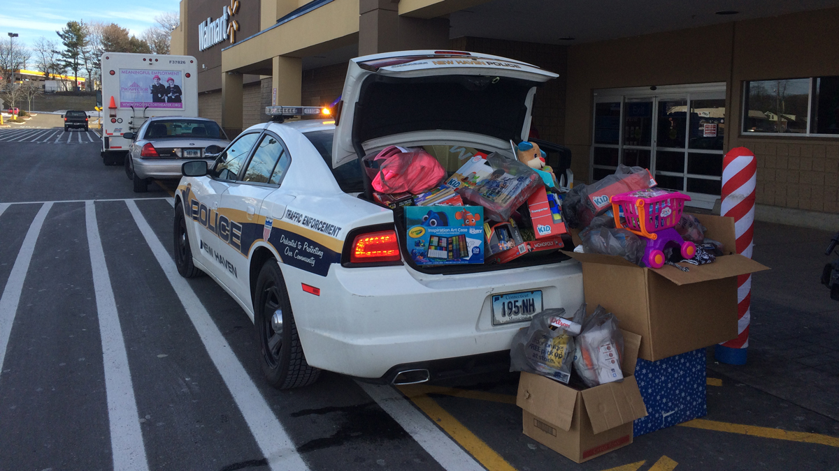 A cruiser stuffed full of toys for the 2016 KIEDC Holiday Toy, Coat, Hat and Food Drive