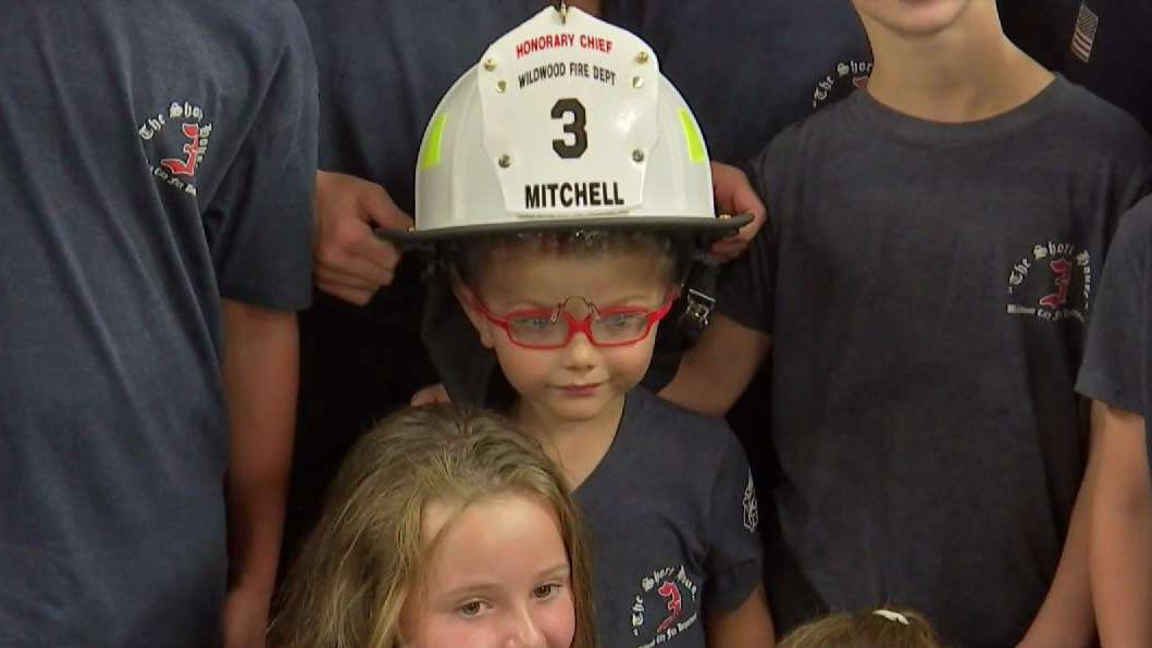 NJ Boy Who's Losing His Sight Is Made Honorary Fire Chief