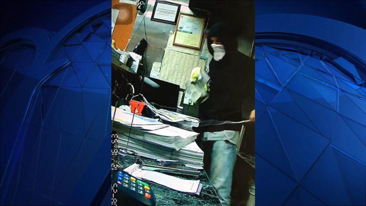 North Haven police say the person pictured above burglarized three businesses on State Street Friday night.