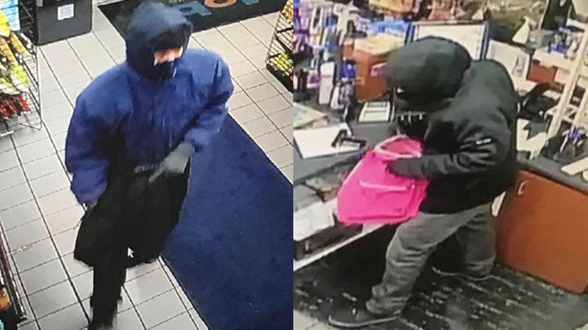 Norwalk police said the suspects pictured above robbed the Shorehaven Mobil at gunpoint Friday night.