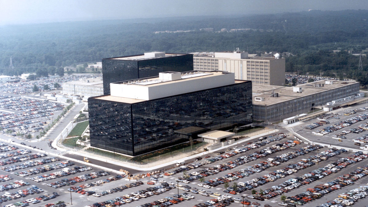This undated photo provided by the National Security Agency (NSA) shows its headquarters in Fort Meade, Maryland.