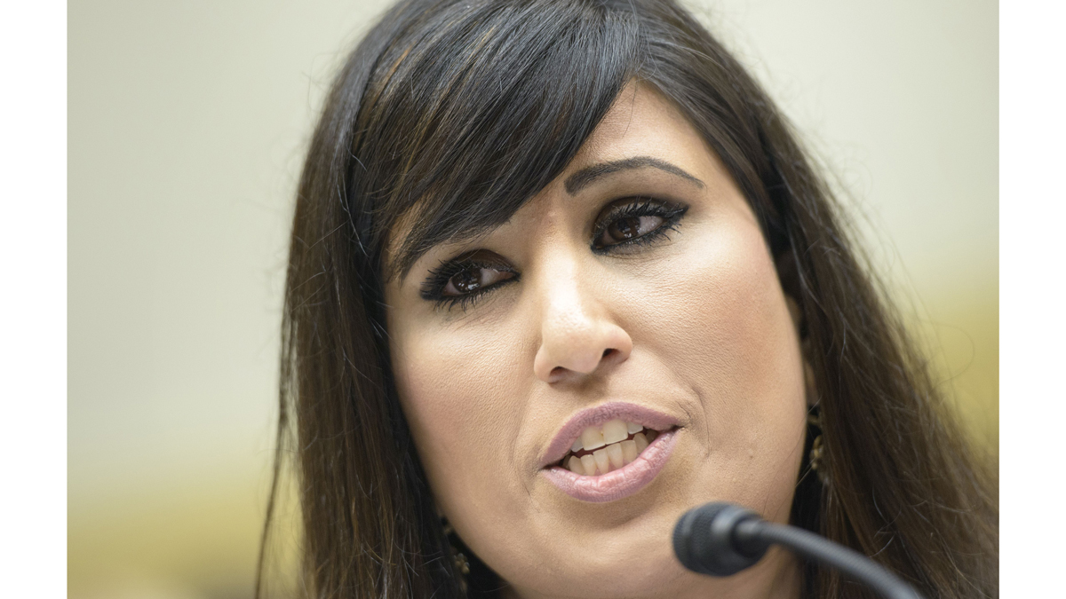 Nagameh Abedini, wife of Saeed Abedini, speaks during a hearing of the Foreign Affairs Committee on Capitol Hill June 2, 2015 in Washington, DC.