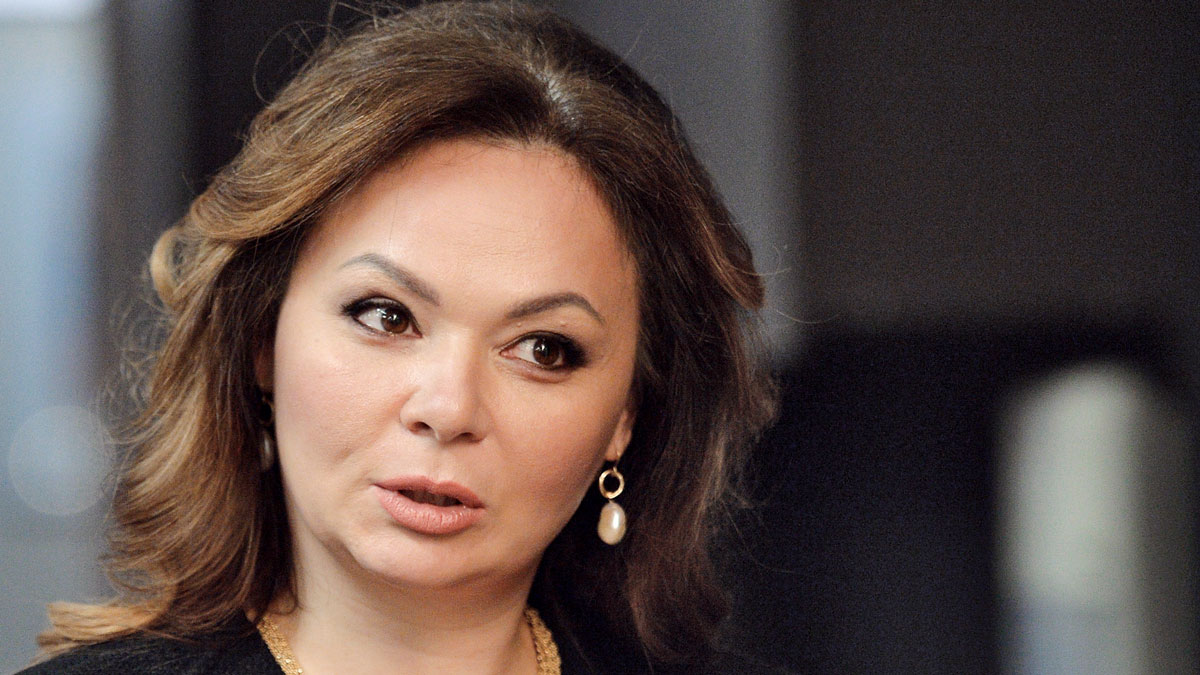 In this photo taken on Nov. 8, 2016, Kremlin-linked lawyer Natalia Veselnitskaya speaks to a journalist in Moscow, Russia. President Donald Trump's eldest son changed his account of the meeting he had with a Russian lawyer during the 2016 campaign over the weekend, saying Sunday July 9, 2017, that Natalia Veselnitskaya told him she had information about Clinton. A statement from Donald Trump Jr. one day earlier made no mention of Clinton.