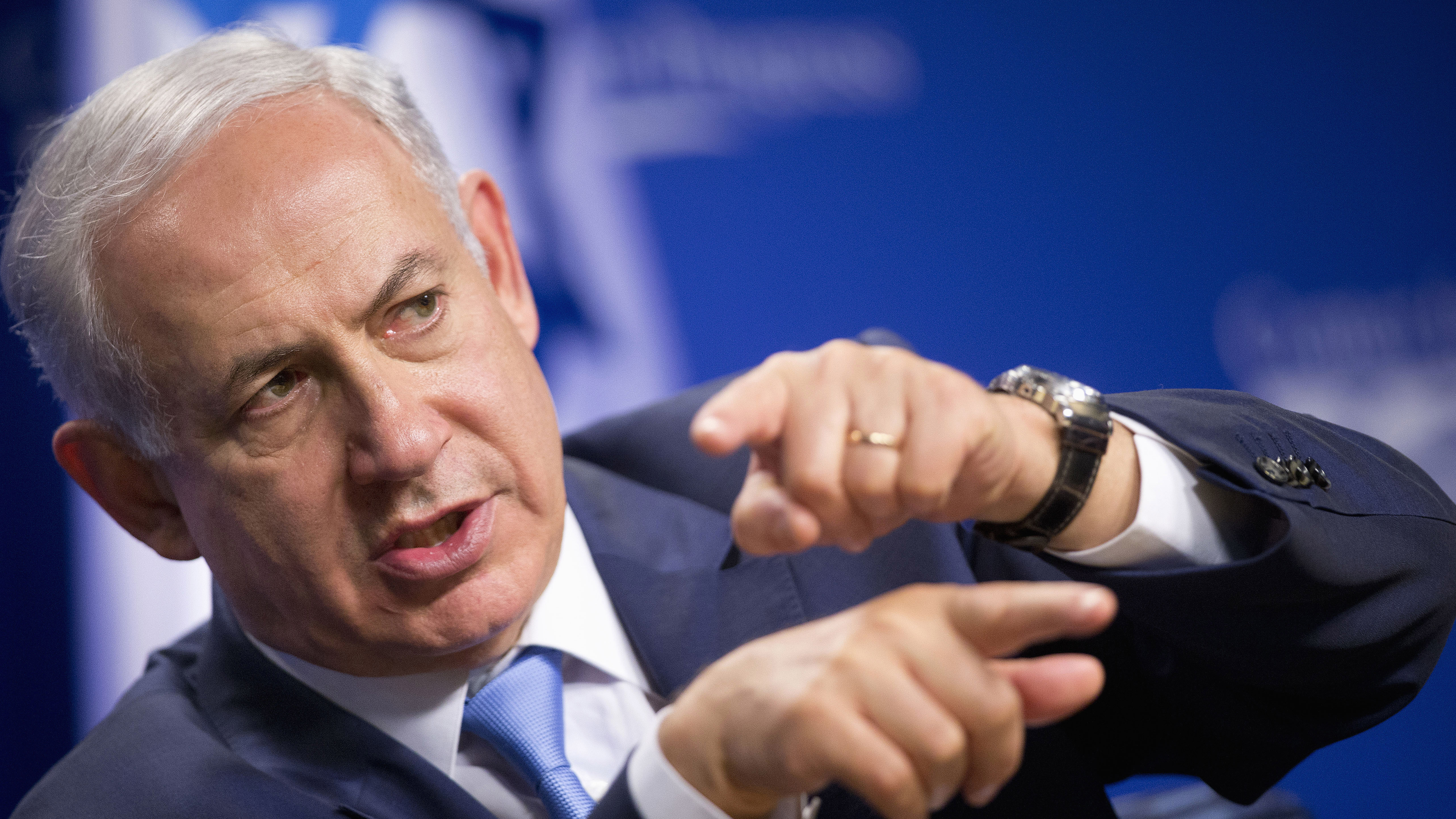 In this file photo, Israeli Prime Minister Benjamin Netanyahu speaks at the Center for American Progress, Tuesday, Nov. 10, 2015, in Washington.
