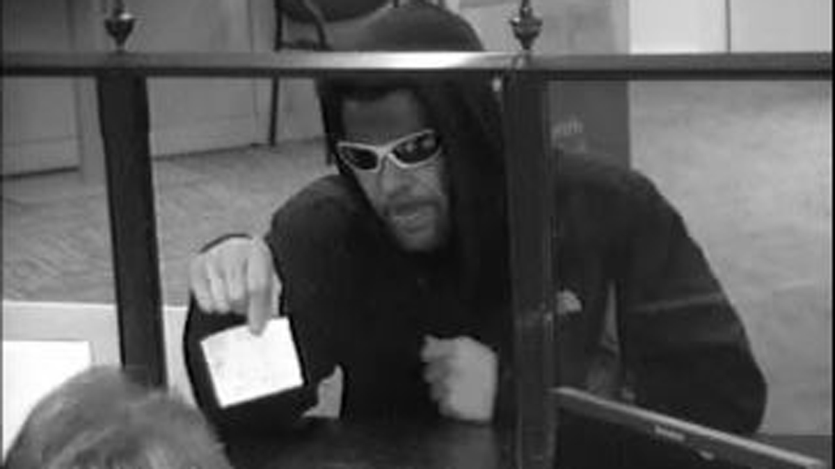 New Haven police say the suspect pictured above robbed the Citizen's Bank on Forbes Avenue Wednesday.