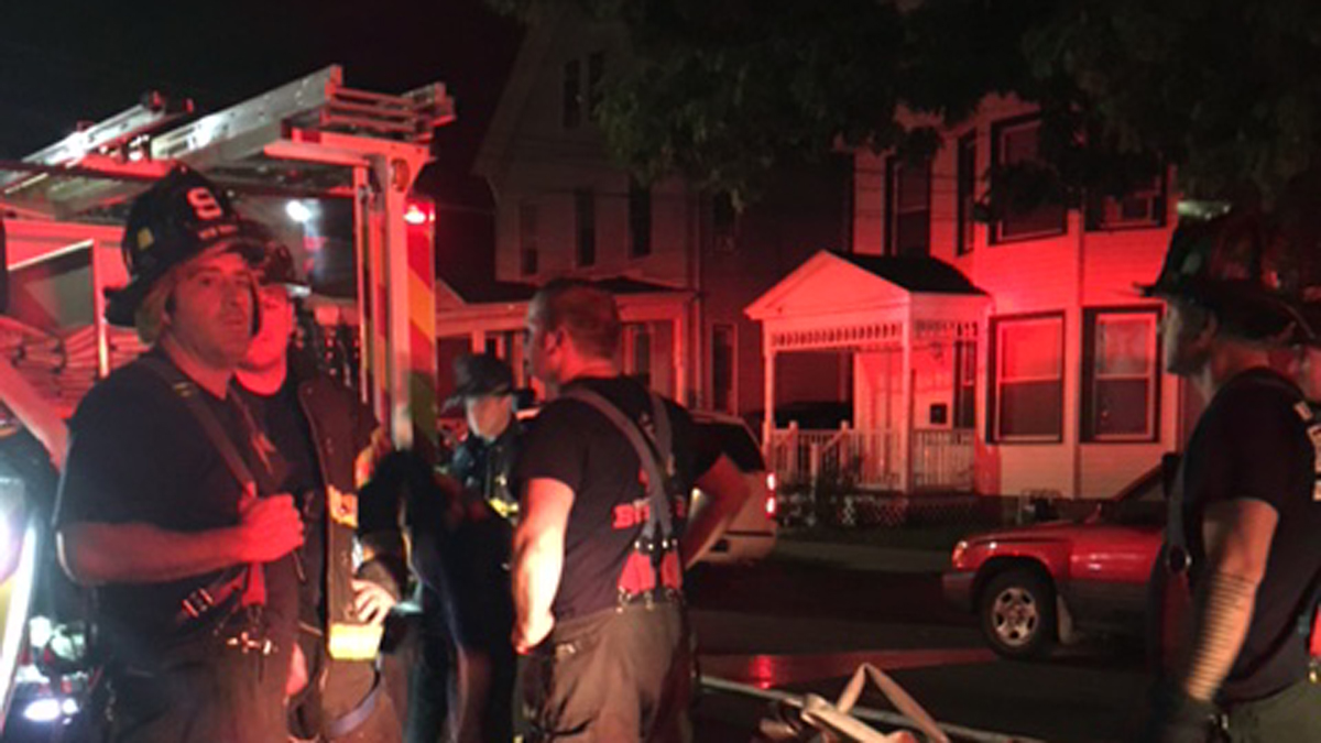 Firefighters knocked down an electrical fire at a multi-family on Bassett Street and Winchester Avenue Monday morning.