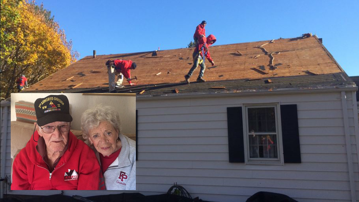 Clayton Chalfant, who served in Europe during World War II, is getting a new roof thanks to a group of volunteers.