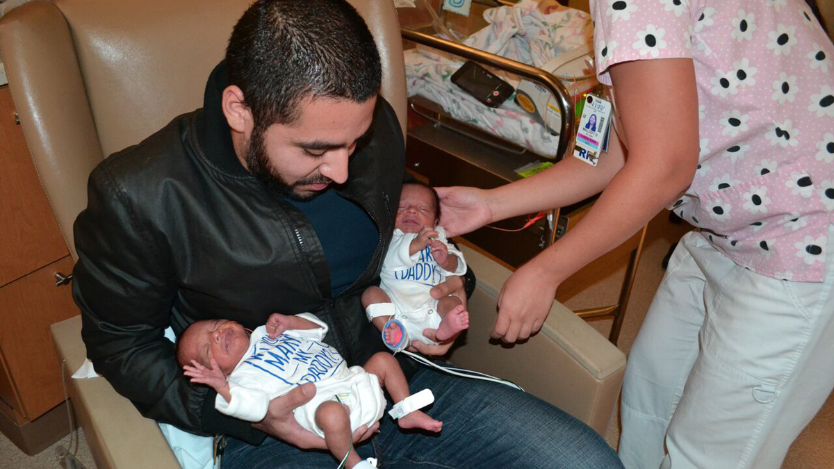 Chula Vista resident Fernanda Alonso gave birth to her twin boys, Maximiliano and Santiago, on Oct. 8, 2015, at Sharp Mary Birch Hospital for Women & Newborns. On Nov. 5, her boyfriend, Andres Alonso, asked Busani to marry him with the help of his adorable twins.