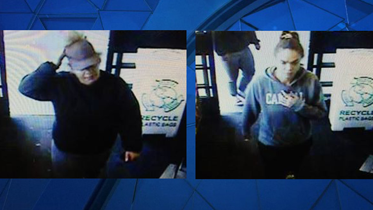 North Haven police said the suspects pictured above burglarized a home on Standish Avenue then used a stolen credit card at stores in Hartford and Wethersfield.