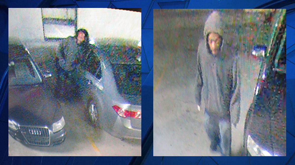Norwalk police said the suspect pictured above broke into two cars int he Maritime Parking Garage on North Street in October.