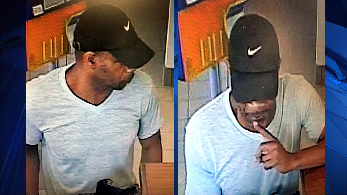 Orange police say the suspect pictured above robbed the Webster Bank at 247 Boston Post Road Monday morning.
